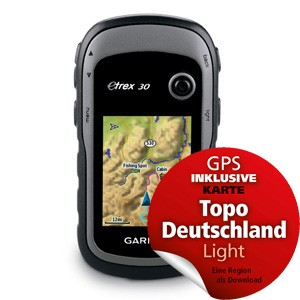 Garmin eTrex® 30 inclusive Topo Deutschland Light